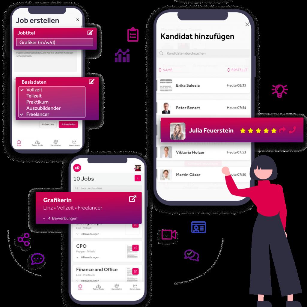 Tools wie eRecruiter GO ermöglichen Recruiter mobil Recruiting für die Generation Z.